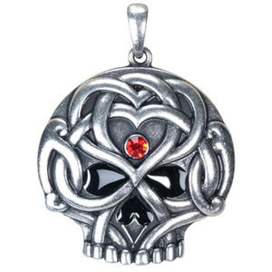 Doranne Jewelry - Celtic Knot Pendant Sugar Skull Day Dead Pewter